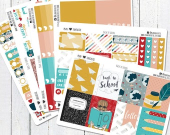 Back To School Planner Sticker Kit, Fall Weekly Stickers, for use in Erin Condren Life Planner™
