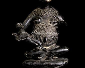 Ethnographic Art Image Series / Portrait of Bamum Bronze Maternity Figure / Tribal Art–African Art / High Res Print / Fine Art Photography