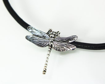 Dragonfly necklace Sterling silver - Dragonfly pendant- Hand made - Pure silver 999 - Dragonfly pendant - Silver Dragonfly - realistic