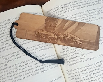 Marvel Black Panther Bookmark with Tassel - Laser Engraved Wood - Princess Shuri of Wakanda