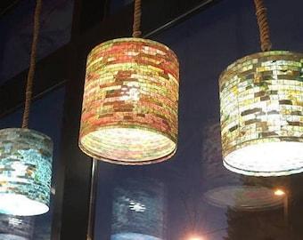 Shipping Worldwide - Ceiling Light Lighting Blue Pendant Chandelier Pendant Hanging Lampada Coffee Filter Art