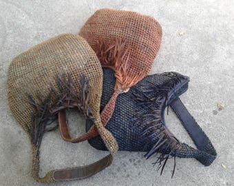 Bohemian Vegan Crocheted Raffia Festival  Bag