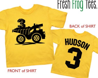 Dump Truck Birthday Shirt Personalized  Construction Birthday Shirt - any age and name - pick your colors!