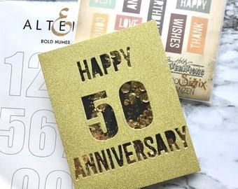 Anniversary Shaker Card