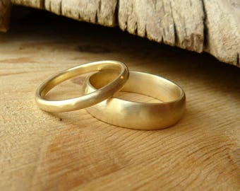 His and Her Wedding Bands- Custom for M