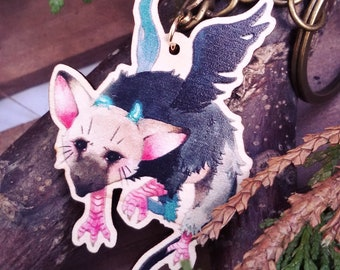 The Last Guardian Trico charm Anhänger Wooden charm