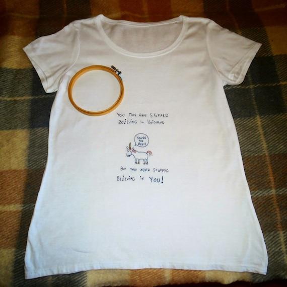 Hand Embroidery T-shirt _ T-shirt Ricamata a Mano _ Fulminata Vqu6r