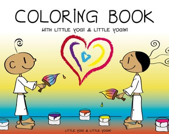 Coloring Book with Little Yogi  & Little Yogini - 20 adorable Coloring Pages as PDF Download