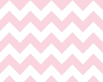 Riley Blake Chevron Baby Pink Flannel Fabric, 1 yard