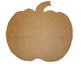 Unfinished Pumpkin Shape 12.5x13.5 Inches Sign Mosaic Base Craft Shape