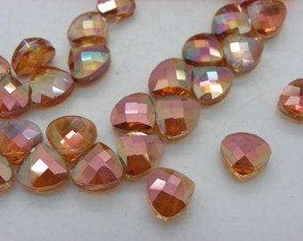 small pendant orange 30 10 triangle shaped Crystal beads