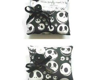 Jack Skellington Nightmare before Christmas Wedding Ring Pillow- 2 designs available