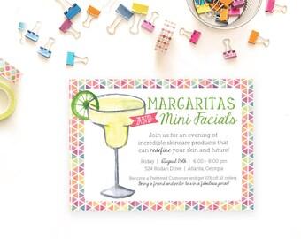 Rodan and Fields Margarita and Mini Facials, Digital File, Personalized