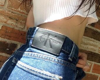 Calvin Klein High Waisted dark wash jeans