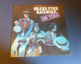 Grand Funk Railroad On Time Vinyl Record LP ST-307 Capital Records 1969