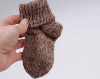 Hand knit baby socks, knit socks baby, alpaca wool baby socks, alpaca wool socks, baby socks, Christmas gift, baby shower gift, knit socks