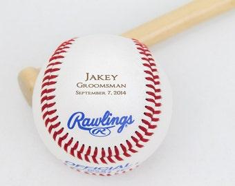 Groomsmen Gift, Baseball, Personalized Gift, Wedding Party Favor, Custom Groomsmen and Best Man Gift, Ring Bearer Gift