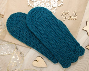 Knit mittens green wool mittens hand knit mittens crochet mittens with pattern ornament mittens cabled mittens toddler crosshatch mittens