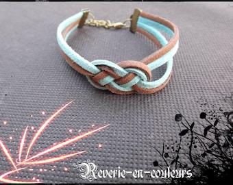 """Bracelet suede sailor knot """"Foehn"""""""