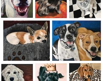 """SALE!! 11""""x14"""" oil on canvas pet portrait"""
