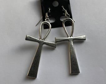 Extra Large Ankh Earrings, egyptian jewelry, women's earrings,african earrings, afrocentric,ethnic jewelry