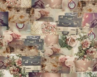Romantic Paris fabric, tricot. SK108