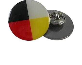 Medicine Wheel Lapel Pin/Four Directions Lapel Pin