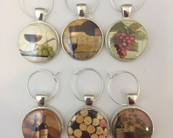 Wine Charms - set of 6