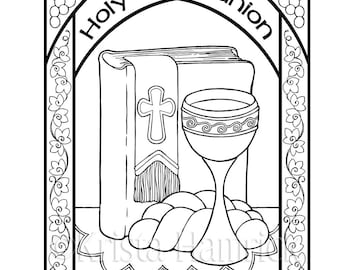 Look in My Heart coloring page 85X11 Bible journaling