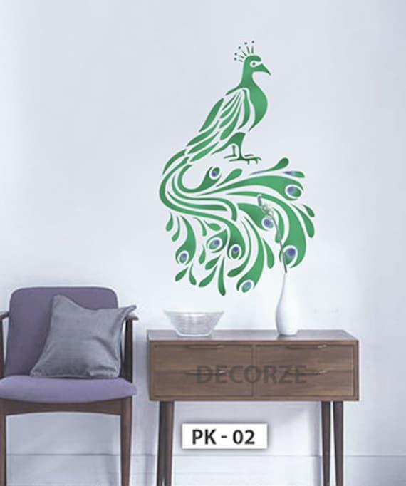 Peacock Painting Sticker Wall Art