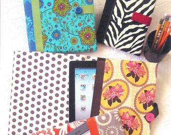 """Pattern - """"Tech Cover"""" E-Reader Cover Paper Sewing Pattern / Instruction Booklet by Black Mountain Quilts"""
