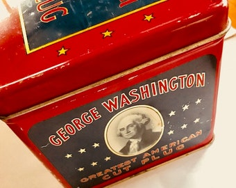 Tobacco Tin Cans Lot Of 6: George Washington Cut Plug Box, 2 Prince Albert Tall, Between The Acts Little Cigars, Camel Special &Lucky Strike