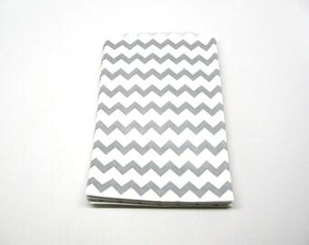 "Gray Chevron Bag, Gray Chevron Favor Bags, 5"" x 7.5"", Set of 10"