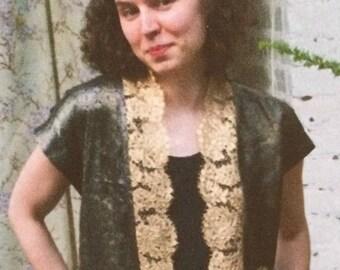 Gold trimmed metallic brocade Vest