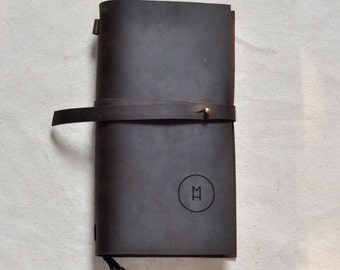 Leather Journal /Sketchbook - Personalized with initials optional