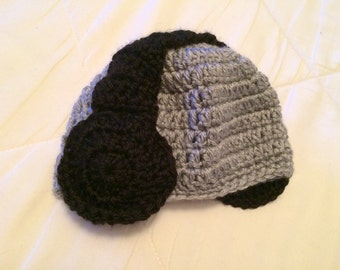 Headphones Crochet Hat
