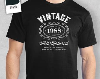 30th Birthday, 30th Birthday Idea, Great 30th Birthday Present, 30th Birthday Gift. 1988 Birthday, 30th Birthday Shirt For a 30 Year Old!
