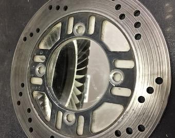 Brake wheel mirror