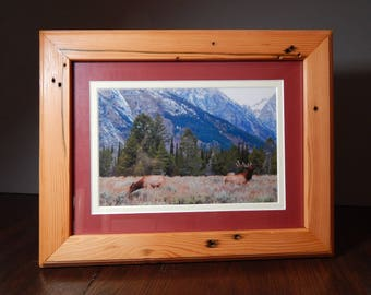 Reclaimed Picture Frame 11x14, Modern Craftsman Handmade Custom Wood Frame Available in Various Sizes/Designs