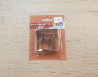 set of 3 cookie square metal pieces