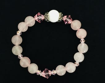 Rose Quartz Bracelet, Gemstone Bracelet