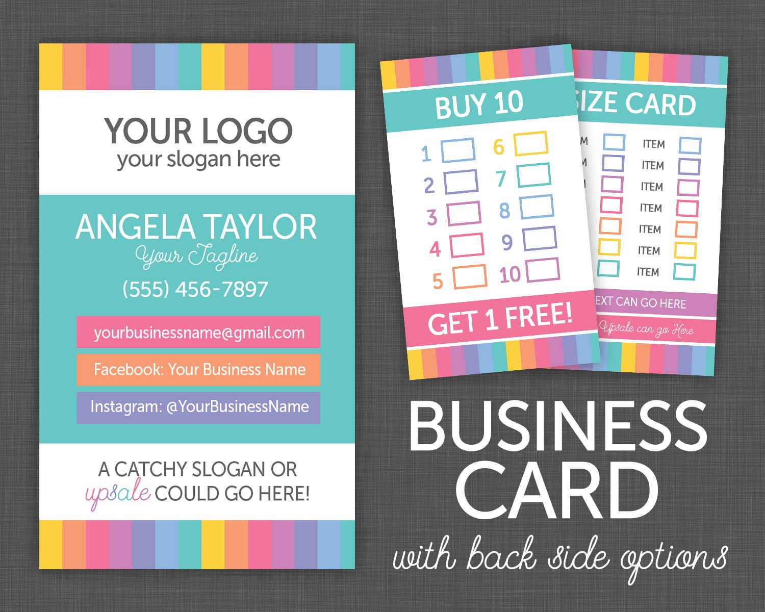 Business Cards My Size Card Punch Card My Size Card
