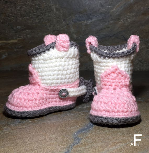 Baby Cowboy Booties Crochet Pattern Crochet Pattern Baby