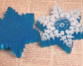 frozen snowflake soap snow soap scented in cool mint