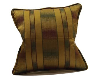 Golden Olive Corded Ethnic Decorative Pillow Cover
