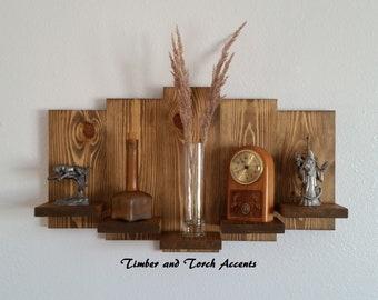 Southwestern shelf, Wall display shelf, Knick knack shelf, Curio shelf, Farm house decor, Wood pallet shelf, Rustic wood shelf, Wooden shelf