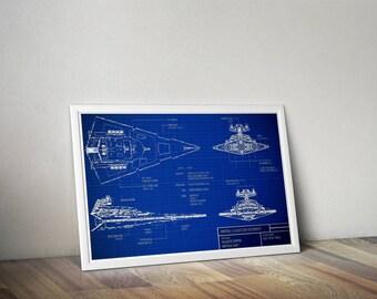 Star Wars inspired blueprints poster