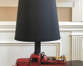 Red Fire Truck Lamp
