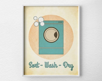 Laundry Room Decor,  Laundry Sign, Laundry Print, Laundry Room Poster, Vintage Laundry Art, Laundry Room Art, Laundry Room Sign, 0216