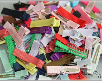Grab Bag Lined Clips, Partially Lined Clips, Alligator Hair Clips, Single Prong Clips